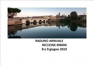 RADUNO ANNUALE - RIMINI RICCIONE 8 e 9 giugno 2019 @ Rimini