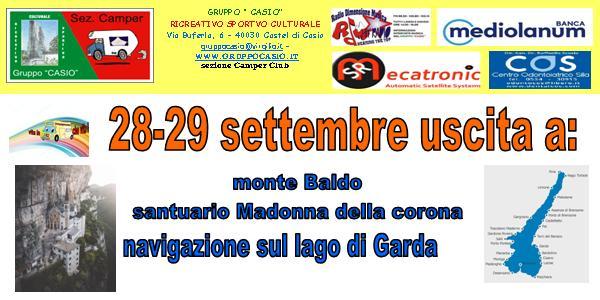 Uscita camper sul Lago di Garda  28-28 settembre 2019