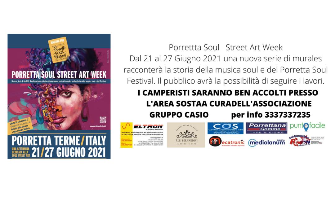 Porretta Soul Street Art Week  21-27 giugno 2021